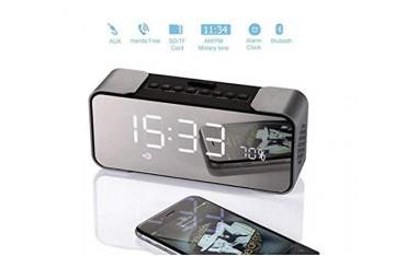 Високоговорител DiKaou DK-658, 10 W, Bluetooth 4.2, Огледален дисплей, Часовник