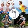Wirezoll Безжични спортни стерео слушалки с микрофон
