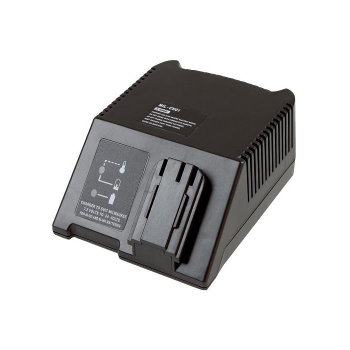 MTEC Mil CH01 зарядно устройство за всички батерии Milwaukee с 7.2 V - 24 V