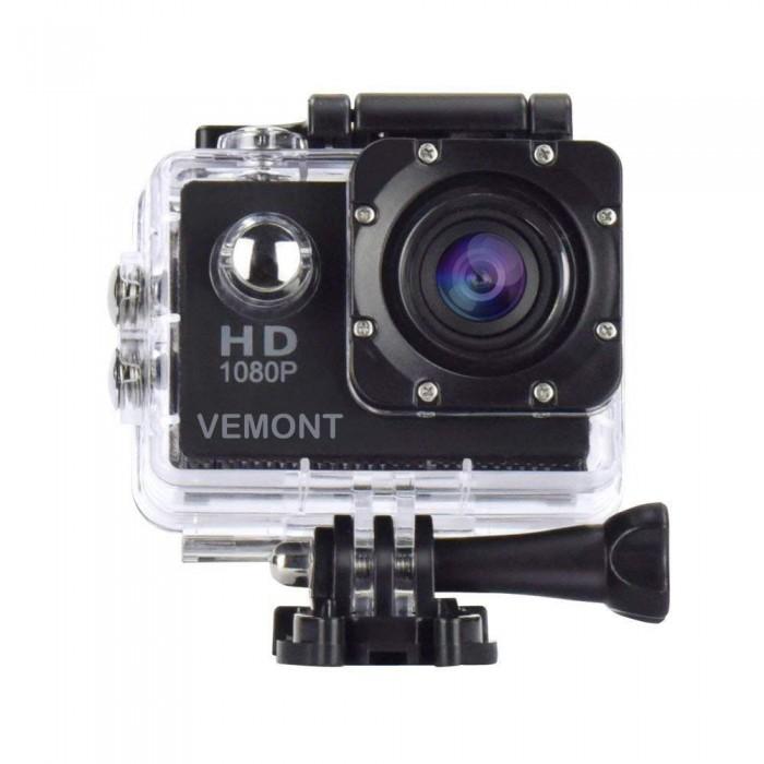 Vemont 1080P 12MP спортна камера Full HD 2.0 инчов