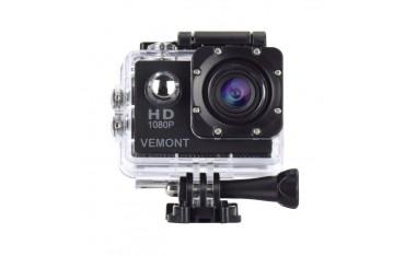 Спортна камера Vemont 1080P 12MP водоустойчива, Full HD 2.0 инча