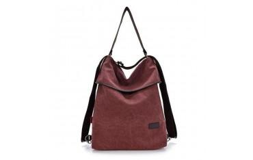 Чанта oris, текстил, лилава