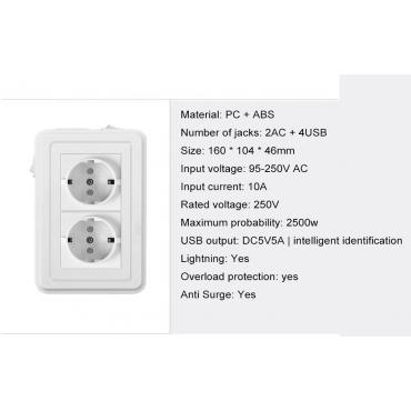 tdu45a001 Бърз USB зарядно и Универсален предпазител от пренапрежение