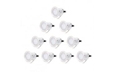 CroLED 10 бр. водоустойчиви лампи за вграждане