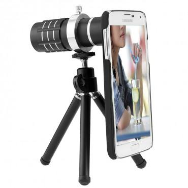 Комплект обектив за камера CamKix, съвместим със Samsung, статив, калъф