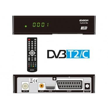 EDISION Progressiv HYBRID LED FullHD комбиниран DVB-T/T2