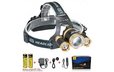 Фенер за глава CALOICS, LED, водоустойчив