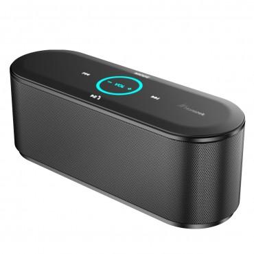 Високоговорител Honstek K8, Bluetooth, LED светлини,, HD стерео, Черен