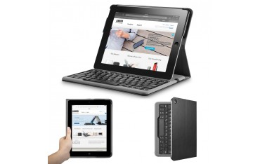 Клавиатура Anker TC941, Комплект с калъф , за iPad, Bluetooth , Сива