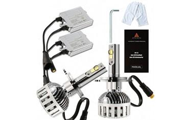 LED крушки за автомобил AFTERPARTZ XH-6, Комплект 2 бр, 72W ,12000LM, XHP-50 LED чипове (H4 9003 HB2), CANBUS декодер, 6000K