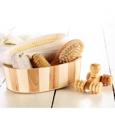 Комплект за баня Newgen Medicals, 6 части, Естествени материали