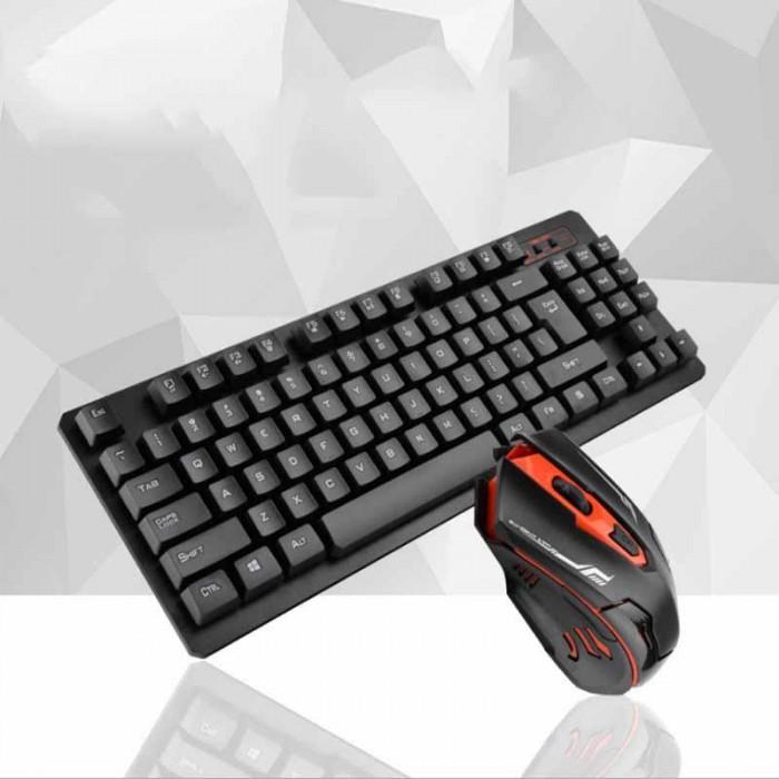 Безжична клавиатура мини оптична мишка HK6300