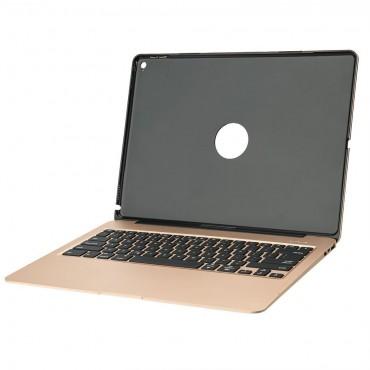 "Клавиатура iEGrow F07, 12.9"", 5600mah , Алуминиева, Калъф, Bluetooth, Златна"