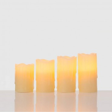 Комплект от 4 LED свещи в истински восък Online Fuchs