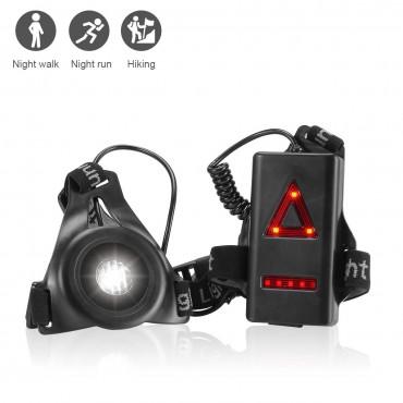 Комплект LED фенерче LANMU, Водоустойчив, Регулируема лента за гърди за безопасност