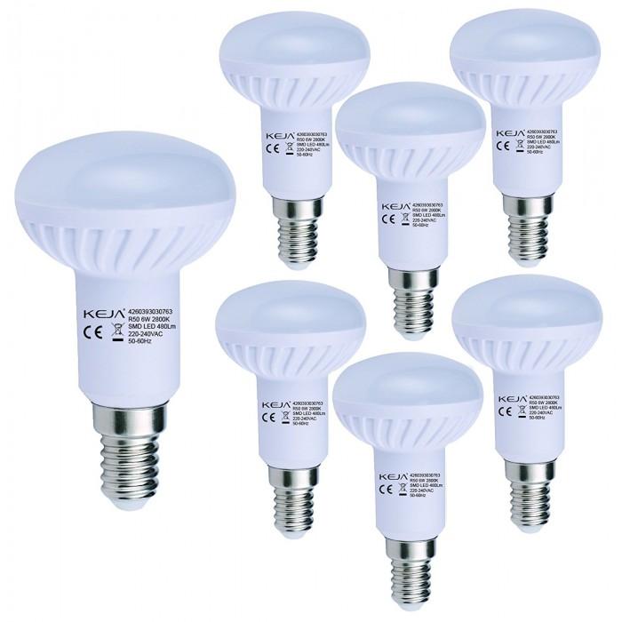 LED крушка 2800 K 6 W E14 LED 480LM keja