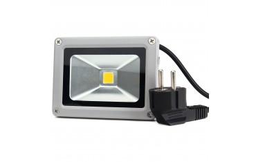 LED Прожектор Bestwe,10 W , 1000LM , IP65 Водоустойчив,Сив