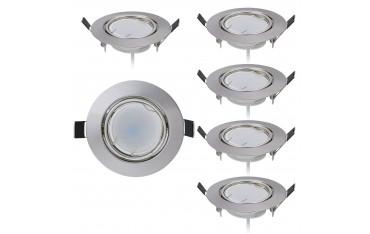 6 LED Луна за вграждане HC LIGHT, 230 V, 3000 K, 430LUMEN, 5 W, IP40