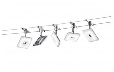 Кабелни 5 LED Лампи Trio Leuchten, 5х4 w, 5x330 lm, Хромирани