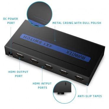 HDMI превключвателA VANTEK Splitter с 4 порта