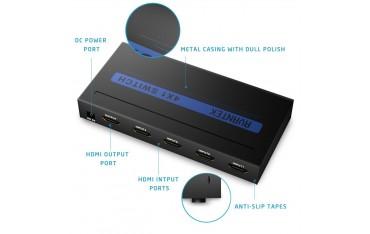 HDMI Превключвател AVANTEK, UHD 4Kx2K, Сплитер, K×2K, 4 ×1 портa, 3D поддържа