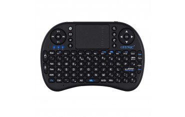 Клавиатура ESYNIC, Безжична, 2.4G, Черна