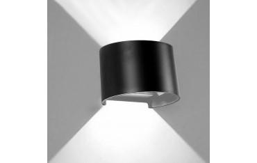 LED Стенна лампа PHOEWON, 7W, Алуминиева, Водоустойчива, Черна
