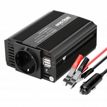 Преобразувател 12V AC 220V-240V, USB Dual 5V портове Bapdas 300W