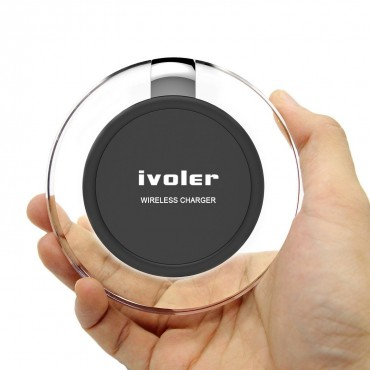 Зарядно устройство iVoler, за устройства с Qi, Прозрачно
