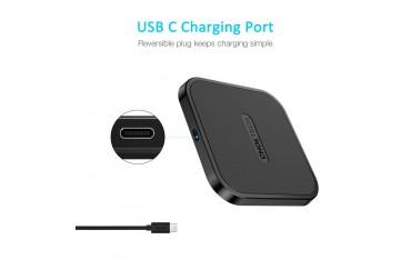 Зарядно устройство CHOETECH t811c-s, USB с Qi, Черно