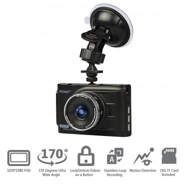 "Видеорегистратор Innoo Tech, 3"" LCD екран, 1080P Full HD, WDR, 32 GB SD карта"