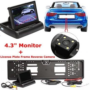 Автомобилна камера за обратно виждане с рамка за регистрационни номера Audew
