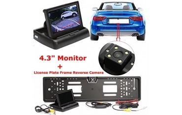 """Автомобилна Камера Audew, 4,3"""" TFT LCD, 110 °ъгъл, Нощно виждане, Черна"""