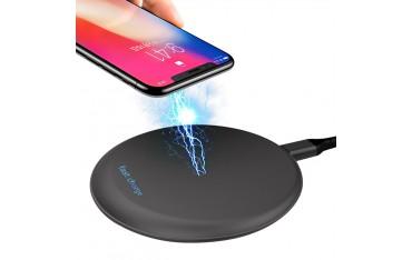 Зарядно устройство STOGA, Безжично, Qi Wireless, Черно