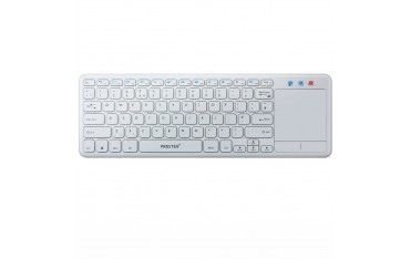 Безжична Мултимедийна Клавиатура Proster pst-kb, AWireless 2.4G, QWERTY, Бяла