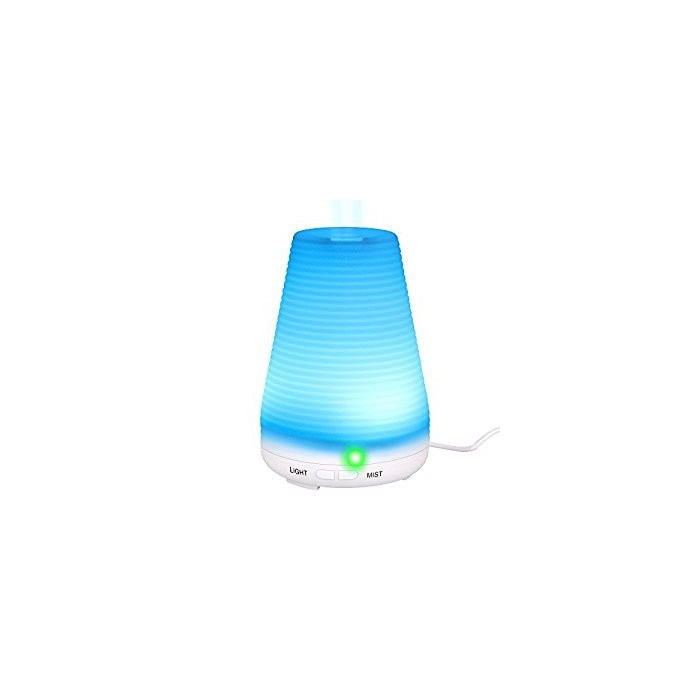 Ултразвуков овлажнител 100ml Дифузор със 7 LED цвята Homecube