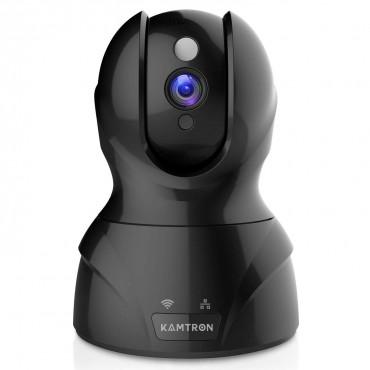 Безжична IP Камера KAMTRON 826, Двупосочен разговор, Сензор за движение, Нощно виждане