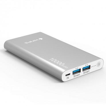 Зарядна батерия Kinps, 10000mAh, Алуминиева
