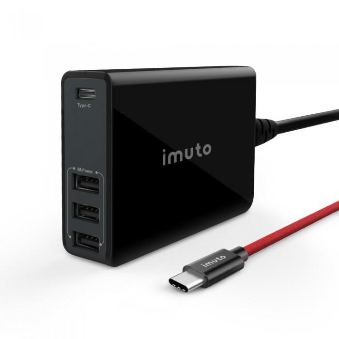 USB зарядно 4-портово 52W imuto