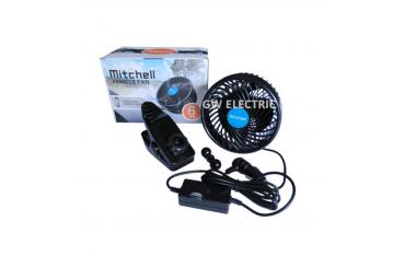 Вентилатор за Автомобил MITCHELL HX-T603E, DC 12V , 9W , Клип