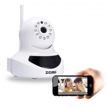 IP камера ZOSI IPC9, HD Wi-Fi, QR код , Двупосочно аудио, Нощно виждане, Детектор движение, Предупреждение