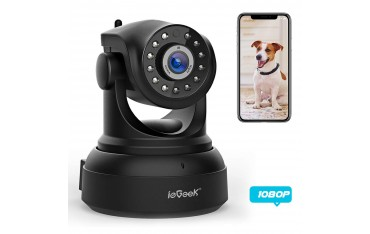 IP Камера ieGeek, WiFi, HD Нощно виждане, Двупосочно аудио, Сензор движение