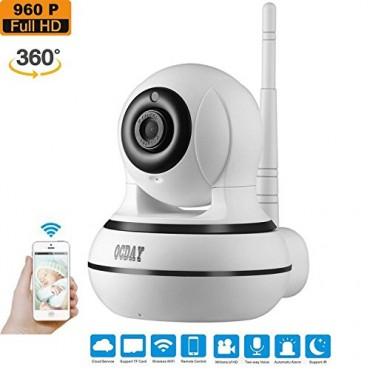 IP Камера OCDAY, Full HD, 355° ъгъл, Двупосочно аудио, Нощно виждане, Сензор движение