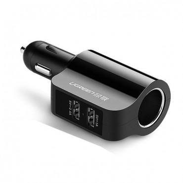 двойно USB зарядно за кола с гнездо за запалка Ugreen