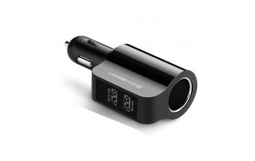 Зарядно за кола Ugreen, 2 USB, Гнездо за запалка