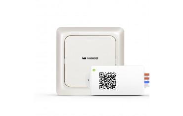 Смарт Ключ Комплект WisQo, Безжичен Превключвател-Приемник на осветление, до 80 м, Дистанционно