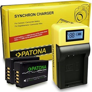 LCD Зарядно устройство PATONA, за Nikon 1 J5, с 2x Premium EN-EL24 батерии