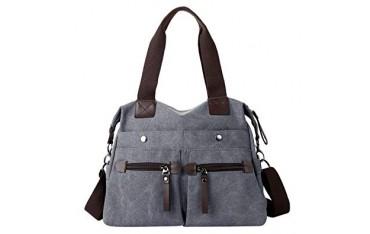 Дамска чанта Eshow, Памучна, Сива