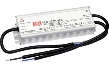 Трансформатор Mean Well HLG-120H-24B, LED, 120 W 5 A 12 - 24 Vdc, Димируем, PF, IP67