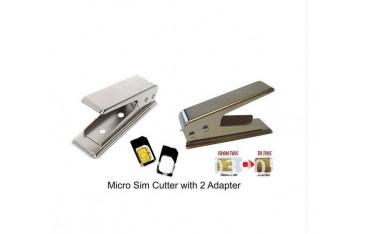 Резачка за Микро Сим карта, 2x адаптера за MicroSim карта